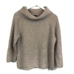 Vintage Turtleneck Cowl Neck Sweater Camel Angora